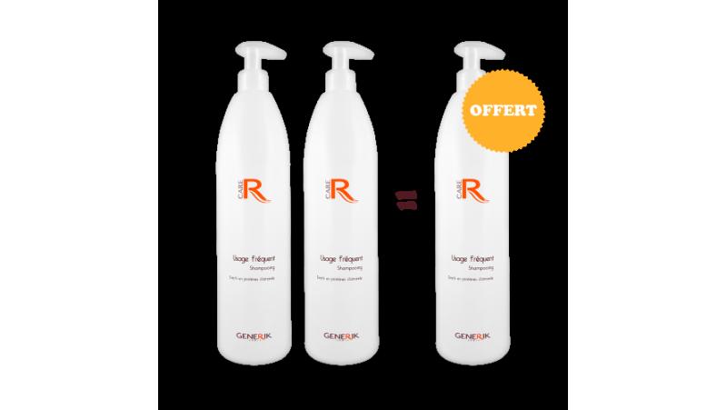 2 Shampooings usage fréquent 1L achetés - 1 Offert