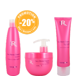 Pack : 1 Shampooings 300ml- 1 Masque 500ml - 1 Soin fondant 150ml