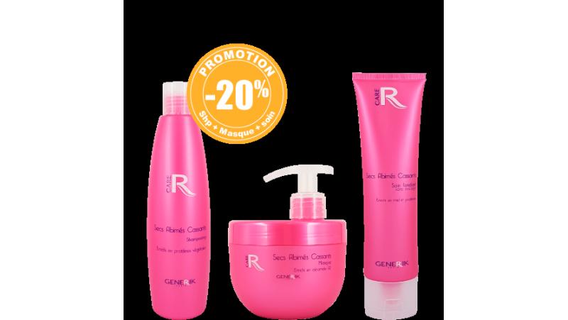Pack : 1 Shampooings 300ml- 1 Masque 500ml - 1 Soin fondant 150ml