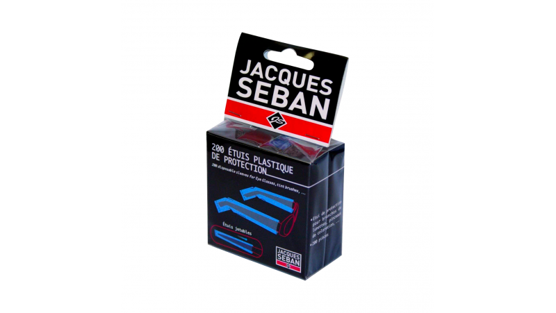 Box of 200 plastic protective cases