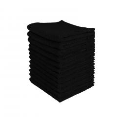 Lot de 12 serviette noire