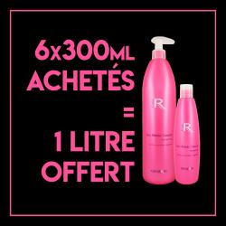 6 Shampooings secs 300 ml - 1 shampooing sec 1L offert