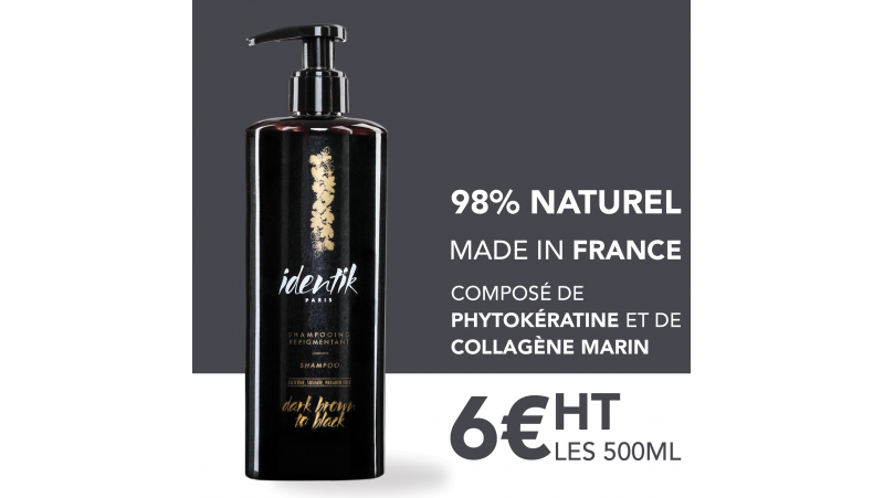 Identik Shampooing Repigmentant Dark Brown 500 ml