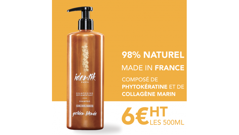 Identik Shampooing Repigmentant Golden Blonde 500 ml