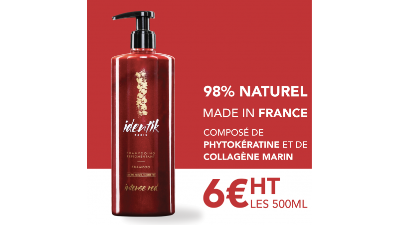 Identik Shampooing Repigmentant Intense Red 500 ml