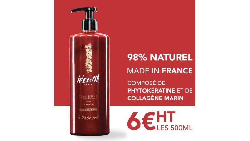 Identik Shampooing Repigmentant Intense Red 500 ml