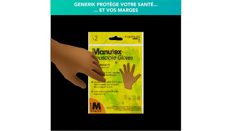 Paire de gants professionnels réutilisables MANUTEX