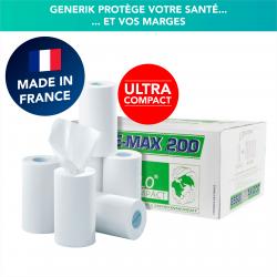 Rouleaux d'essuie-tout ultra compact ESSUI-MAX 200 - Carton de 12