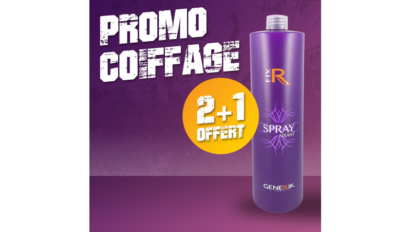2 Recharge Spray Fixe 1000ml achetés + 1 offerte PROMO COIFFAGE