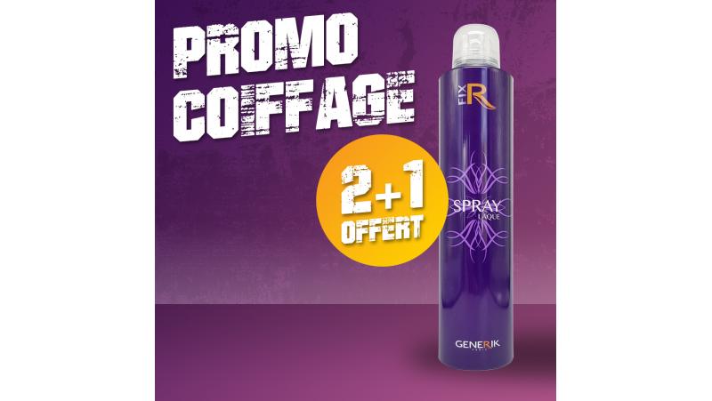 2 Sprays laque aérosol 300 ml + 1 offert PROMO COIFFAGE
