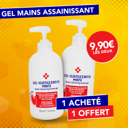 2 Gels mains assainissants 500ml