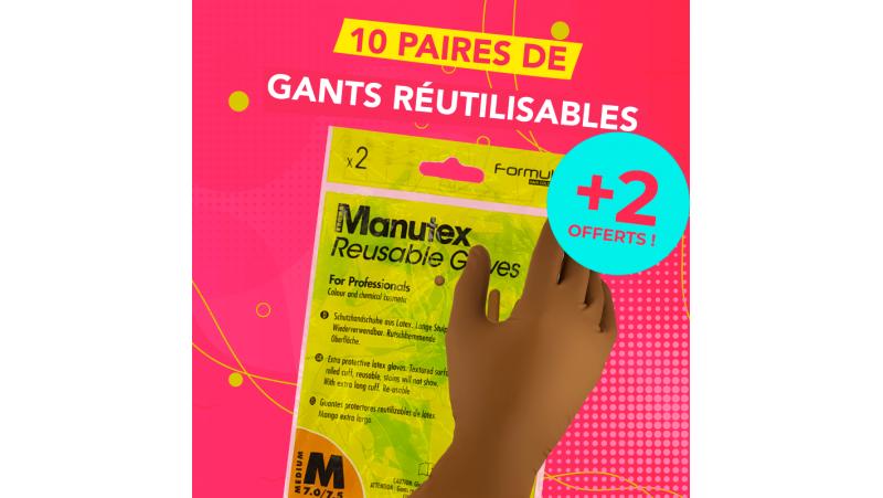 10 Paires de gants professionnels réutilisables MANUTEX