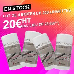 4 boîtes de 200 Lingettes biocides ultra nettoyantes
