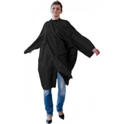 Peignoir Fany Polytex soft noir avec Manche+Velcro
