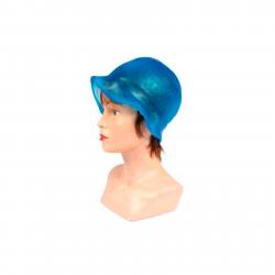 Bonnet silicone bleu pour mêches avec crochet