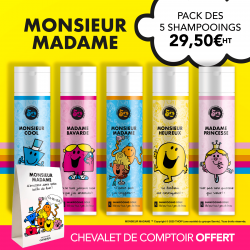 Pack de 5 shampoings exclusifs Monsieur Madame