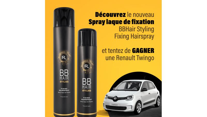 FIXING HAIR SPRAY : 1 Laque BBHAIR 500ml + 1 laque BBHAIR 300ml