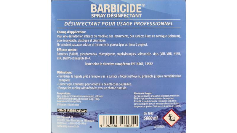 Recharge désinfectant Barbicide 5000ml