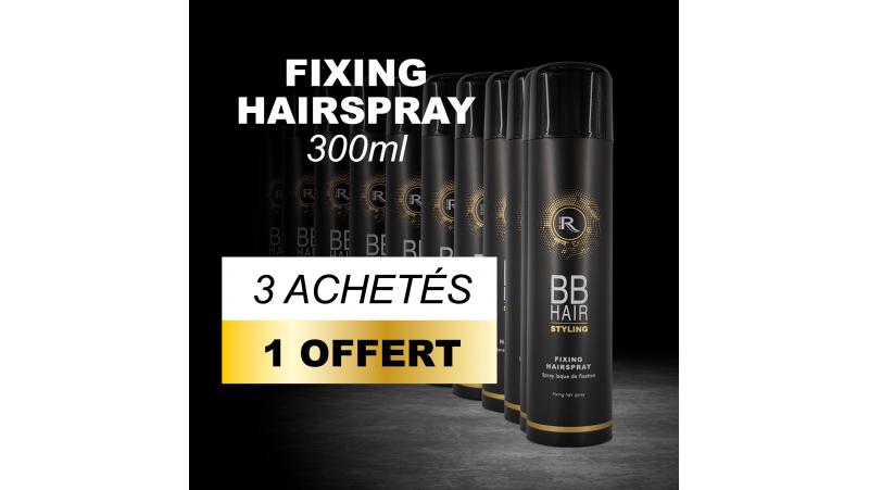 3 BBHair Sprays laque de fixation 300ml achetées + 1 offerte