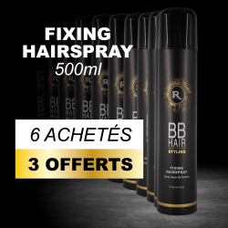6 BBHair Sprays laque de fixation 500ml achetées + 3 offertes