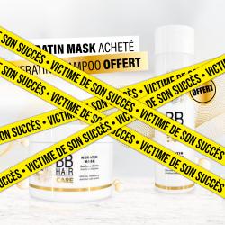 1 Masque Kératine 500ml acheté + 1 Shampooing Kératine 250ml offert