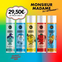 Nouveau Pack de 5 shampooings exclusifs - MONSIEUR MADAME - 250ml