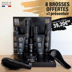 8 produits BBHair Styling acheté + 8 brosses et 1 présentoir offerts