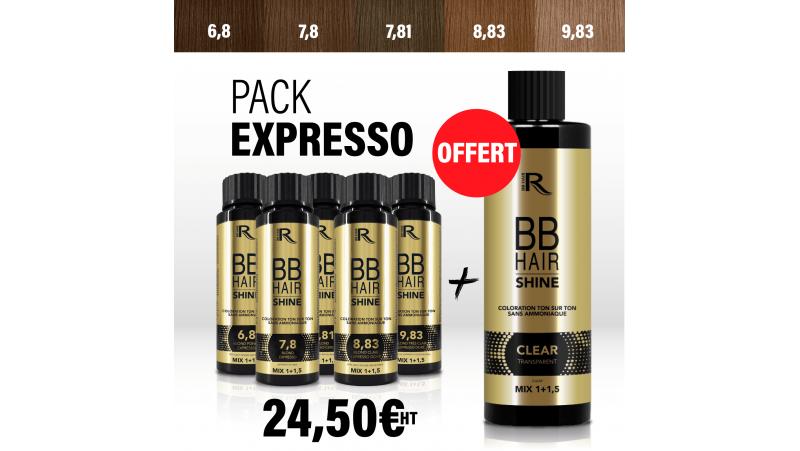 5 BBHair Shine EXPRESSO 6.8-7.8-7.81-8.83-9.83 +1 CLEAR OFFERT