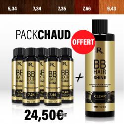 5 BBHair Shine reflet chaud 5.34-7.34-7.35-7.66-9.43 + 1 CLEAR OFFERT