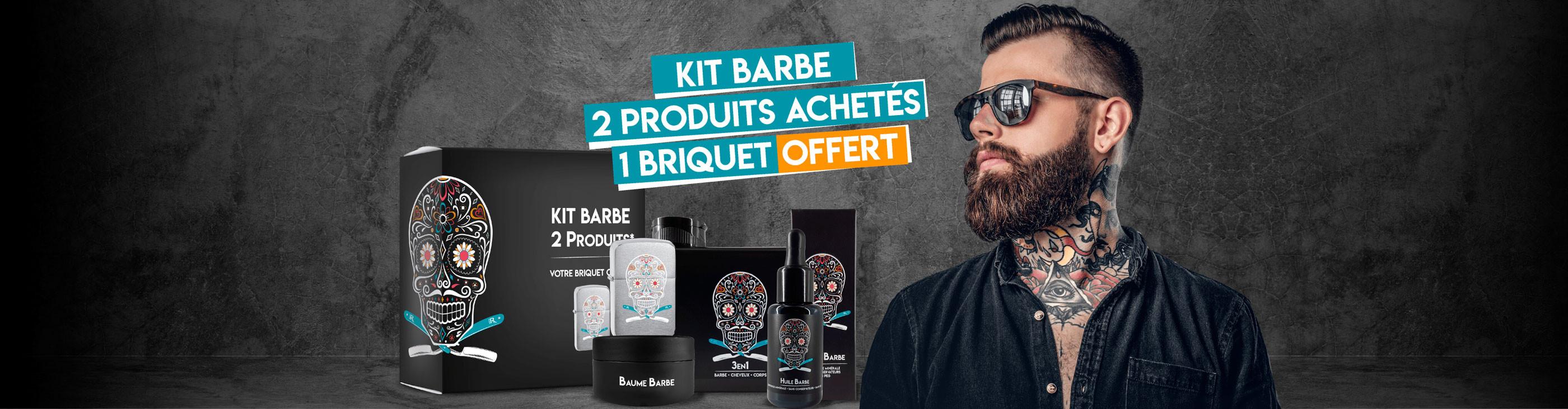 Kit barbe : 2 produits achetés = 1 briquet offert !
